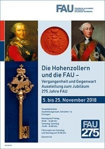 """Plakat für Ausstellung """"Die Hohenzollern und die FAU - Vergangenheit und Gegenwart"""""""