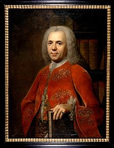 Porträt Christoph Jacob Trew (1695 bis 1769)