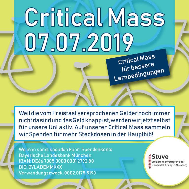 Turbo 7.7.: Critical Mass für mehr Steckdosen in der Hauptbibliothek DG19