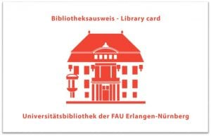Vorderseite des Bibliotheksausweises für Externe