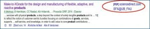 Screenshot Treffer aus Google Scholar mit dem SFX-Link für ein e-Medium