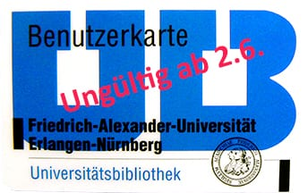 "Zum Artikel ""Old UB library cards for external users expire on June 2"""