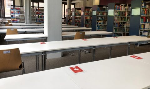 "Zum Artikel ""27.5: Some reading rooms open again – seat must be reserved"""