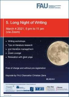 Poster for the Long Night of Writing