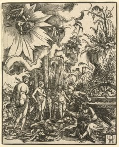 Der junge Mann Paris entscheidet, welche Göttin Aphrodite, Athene oder Hera am schönsten ist