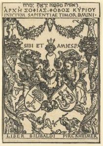 Das Wappen Willibald Pirckheimers kennzeichnete seine Bücher