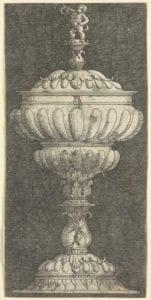 Trinkbecher mit Deckel, entworfen von Albrecht Altdorfer