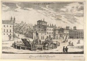 Barcaccia-Brunnen auf der Piazza di Spagna